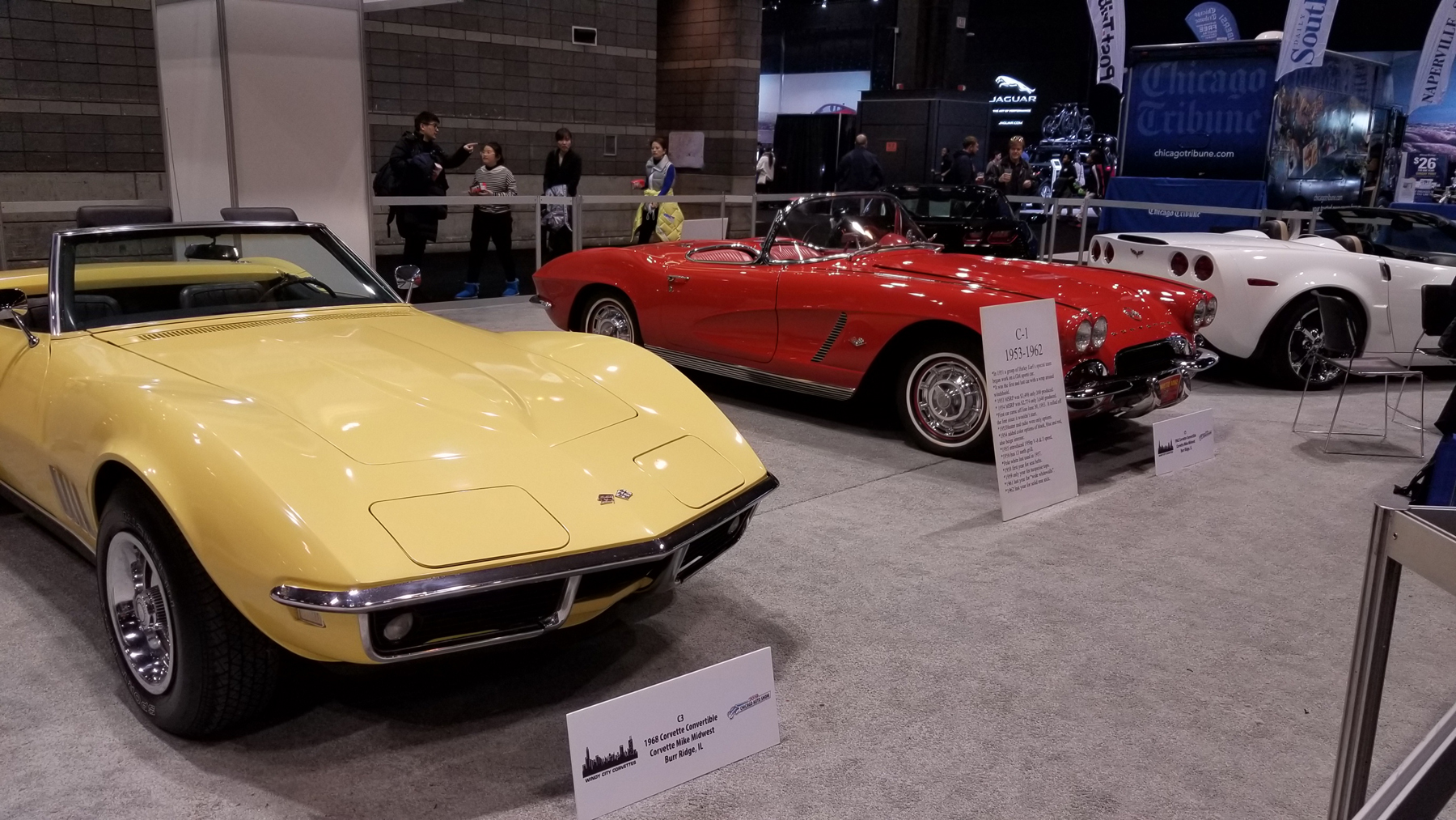Corvette Display at 2019 Chicago Auto Show