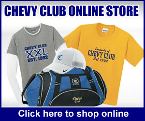 Chevy Club Fieldhouse Store Items