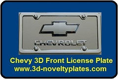 Chevy 3D Front Plate